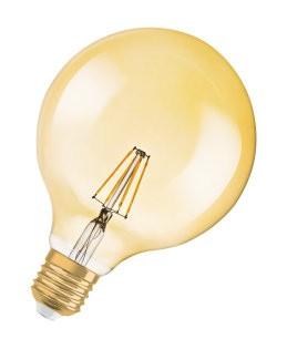 Osram Vintage 1906 LED Globe 35 FIL Gold 1906GL35FILGD 4W/824 230V