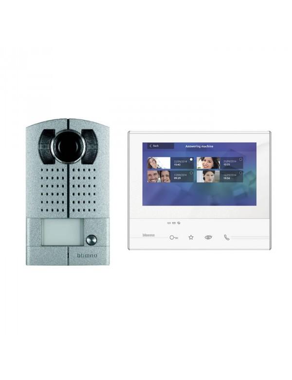 PROMO: Videofoon kit BTicino opbouw Linea Metal Classe 300 voor 1 woning (uitbreidbaar)