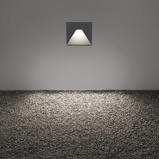 Wandverlichting tuin Delta Light Logic W S alu
