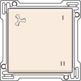 Afwerkingsset voor wisselschakelaar voor mechanische motorsturing, Cream
