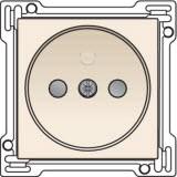 Afwerkingsset voor stopcontact zonder aarding met kinderveiligheid, inbouwdiepte 21mm, Cream