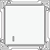 Afwerkingsset met lens voor enkelvoudige schakelaar of drukknop, White