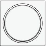 Afwerkingsset met doorschijnende ring zonder symbool voor drukknop 6A met amberkleurige led met E10-lampvoet, White