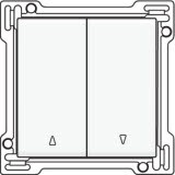 Afwerkingsset voor tweevoudige rolluikdrukknop, White