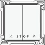 Afwerkingsset voor tweevoudige rolluikdrukknop voor elektronische sturingen, White