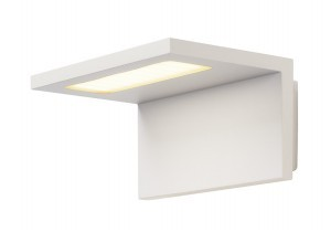Wandverlichting tuin slv angolux wall wit inclusief led lamp