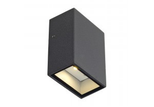 Wandverlichting tuin SLV Quad 1 anthraciet - Inclusief LED-lamp