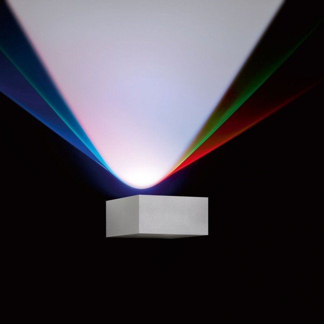 Delta Light wandarmatuur Vision Out S RGB alu grijs