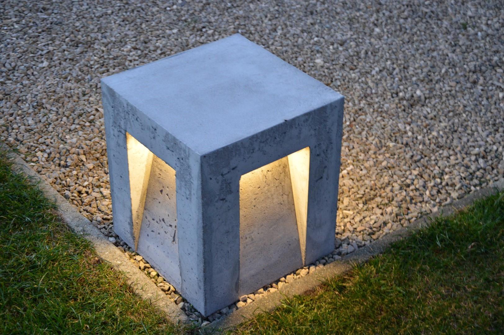 Swee Cube-8, LED 8W, beton grijs, warmwit 3000K