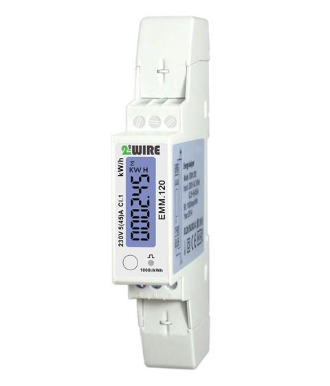 2-Wire monofasige Energiemeter MODBUS, 1 fasig 45A 230V