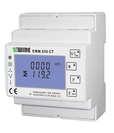 2-Wire EMM.630 Energiemeter MODBUS, 3-fasig 5A CT