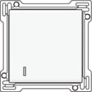 Afwerkingsset met lens voor enkelvoudige schakelaar of drukknop, White coated