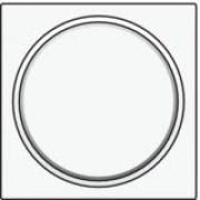 Afwerkingsset met doorschijnende ring zonder symbool voor drukknop 6A met amberkleurige led met E10-lampvoet, White coated