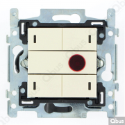 SWC04I101 Qbus smart-switch met IR-afstandsbediening