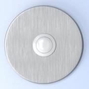 Beldrukknop voor deurbel, rond, RVS, inox