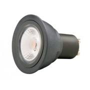 Retrofit LED spot GU10 230V 5W 2800K Dimbaar grijs met camita-lens