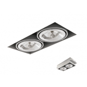 Square Recessed Trimless AR111 RAL9003 White