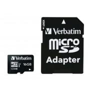 microSDHC Geheugenkaart met adapter - 16GB