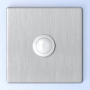 Beldrukknop voor deurbel, vierkant, RVS, inox